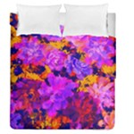 Purple Painted Floral and Succulents Duvet Cover Double Side (Queen Size)
