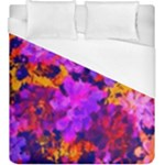 Purple Painted Floral and Succulents  Duvet Cover (King Size)