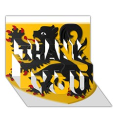 Flanders Coat Of Arms  Thank You 3d Greeting Card (7x5) by abbeyz71
