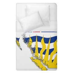 Flag Map of British Columbia Duvet Cover (Single Size) by abbeyz71