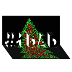 Sparkling Christmas Tree #1 Dad 3d Greeting Card (8x4) by Valentinaart