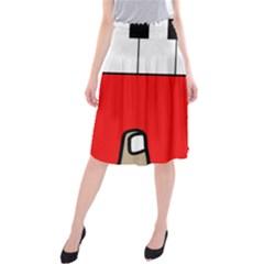 Piano  Midi Beach Skirt by Valentinaart