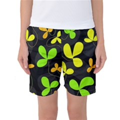 Floral design Women s Basketball Shorts by Valentinaart