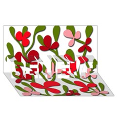 Floral Tree Believe 3d Greeting Card (8x4) by Valentinaart