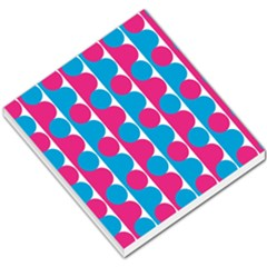 Pink And Bluedots Pattern Small Memo Pads by Zeze