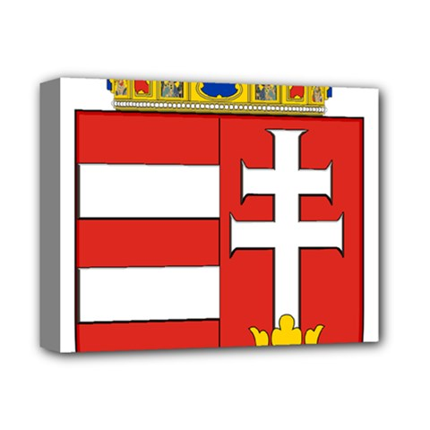 Medieval Coat Of Arms Of Hungary  Deluxe Canvas 14  X 11  by abbeyz71