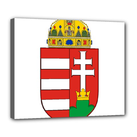 Medieval Coat Of Arms Of Hungary  Deluxe Canvas 24  X 20   by abbeyz71