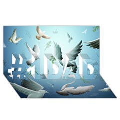 Animated Nature Wallpaper Animated Bird #1 Dad 3d Greeting Card (8x4) by AnjaniArt
