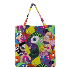 Another Weird Pattern Grocery Tote Bag by AnjaniArt
