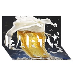 Beer 1 Party 3d Greeting Card (8x4) by AnjaniArt