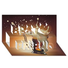 Beer Wallpaper Best Friends 3D Greeting Card (8x4) by AnjaniArt