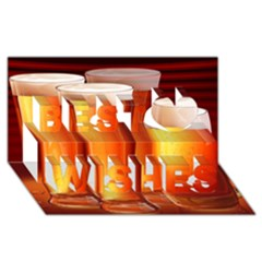 Beer Wallpaper Wide Best Wish 3d Greeting Card (8x4) by AnjaniArt