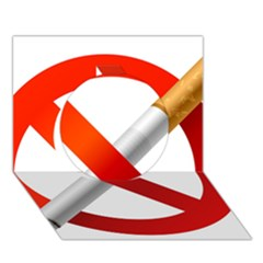 Cigarette Circle 3d Greeting Card (7x5) by AnjaniArt