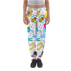 Colorful Cartoon Funny People Women s Jogger Sweatpants by AnjaniArt