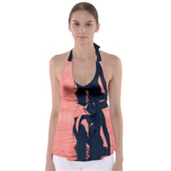 Couple In Love Beach Babydoll Tankini Top