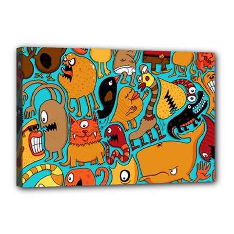Creature Cluster Canvas 18  X 12  by AnjaniArt