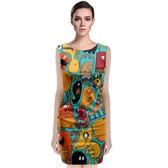 Creature Cluster Classic Sleeveless Midi Dress by AnjaniArt