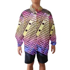 Optics Electronics Machine Technology Circuit Electronic Computer Technics Detail Psychedelic Abstract Wind Breaker (Kids) by Zeze