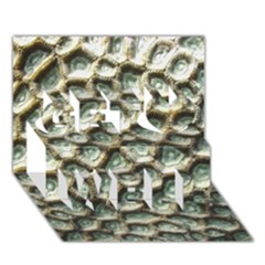 Ocean Pattern Get Well 3D Greeting Card (7x5) by Zeze