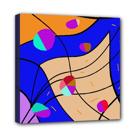 Decorative Abstract Art Mini Canvas 8  X 8  by Valentinaart