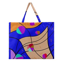 Decorative Abstract Art Zipper Large Tote Bag by Valentinaart