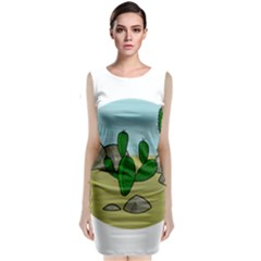 Desert Classic Sleeveless Midi Dress by Valentinaart
