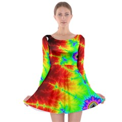 Misc Fractals Long Sleeve Skater Dress