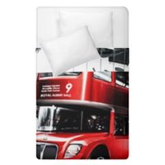 London Bus Duvet Cover Double Side (Single Size) by Zeze
