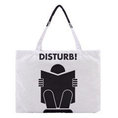 Do Not Disturb Sign Board Medium Tote Bag by AnjaniArt
