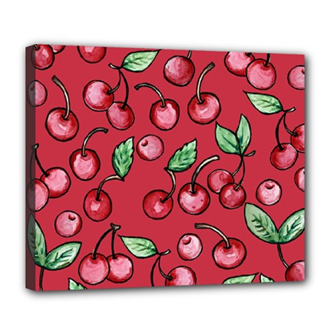 Cherry Cherries For Spring Deluxe Canvas 24  X 20   by BubbSnugg