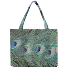 Peacock Feathers Macro Mini Tote Bag by GiftsbyNature