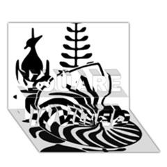 Emblem of New Caledonia YOU ARE INVITED 3D Greeting Card (7x5) by abbeyz71