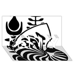 Emblem of New Caledonia SORRY 3D Greeting Card (8x4) by abbeyz71