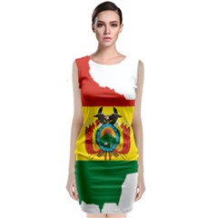 Flag Map of Bolivia  Classic Sleeveless Midi Dress by abbeyz71