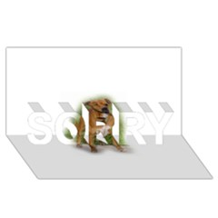 Staffordshire Bull Terrier Full SORRY 3D Greeting Card (8x4) by TailWags