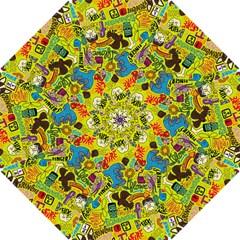 F Pattern Cartoons Hook Handle Umbrellas (small) by AnjaniArt