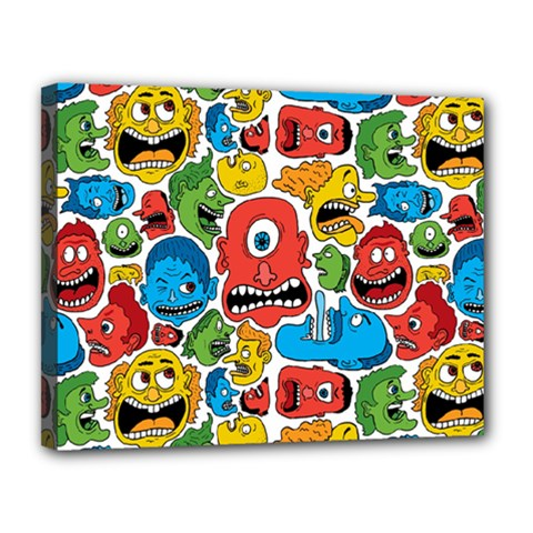Face Creeps Cartoons Fun Canvas 14  X 11  by AnjaniArt