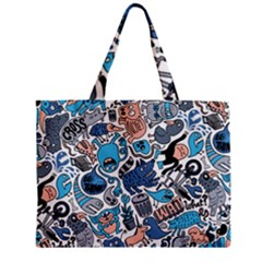 Gross Patten Now Zipper Mini Tote Bag by AnjaniArt