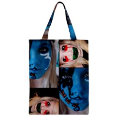 Holliwood Face Painting Zipper Classic Tote Bag by AnjaniArt