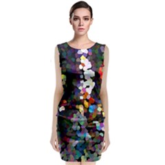 Artist At Time Square1 Classic Sleeveless Midi Dress by BIBILOVER
