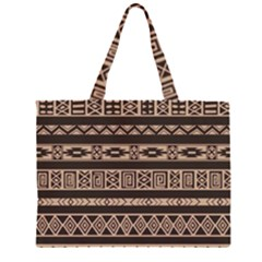 Ethnic Pattern Vector Large Tote Bag by Zeze