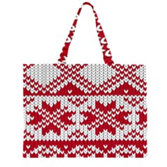 Crimson Knitting Pattern Background Vector Large Tote Bag by Zeze