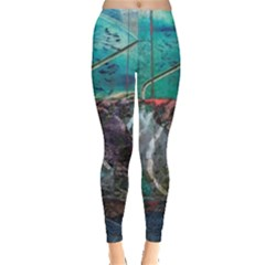 Vegas The Deep End  Leggings  by CrypticFragmentsColors