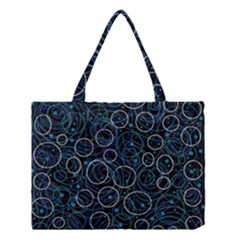 Blue Abstract Decor Medium Tote Bag by Valentinaart