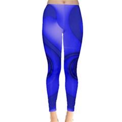 Blue Spiral Note Leggings  by CrypticFragmentsDesign