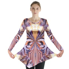 Fire Goddess Abstract Modern Digital Art  Long Sleeve Tunic  by CrypticFragmentsDesign