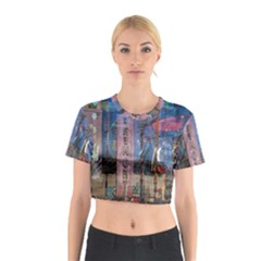 Las Vegas Strip Walking Tour Cotton Crop Top by CrypticFragmentsDesign