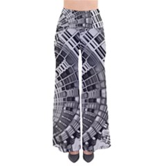 Semi Circles Abstract Geometric Modern Art Pants by CrypticFragmentsDesign