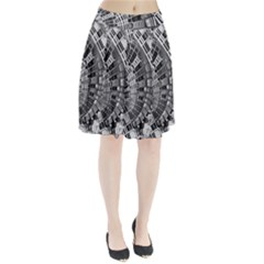 Semi Circles Abstract Geometric Modern Art Pleated Skirt by CrypticFragmentsDesign