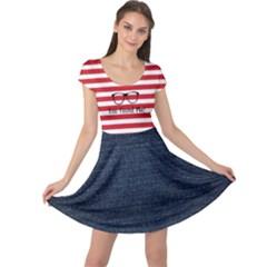 Found Waldo Cap Sleeve Dress by So0oME